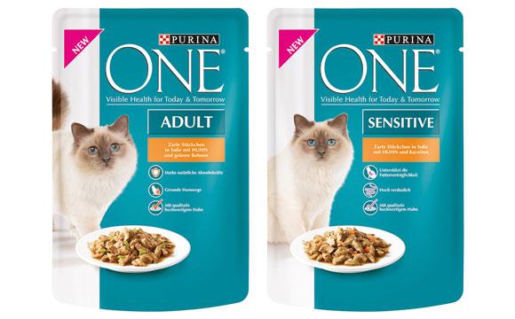 Tiernahrung und -bedarf - Silber:Purina One Nassnahrung / Nestlé Purina Petcare