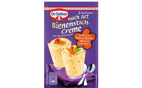 Nährmittel - Bronze: Dr. Oetker Dessert nach Art Bienenstich-Creme / Dr. August Oetker Nahrungsmittel