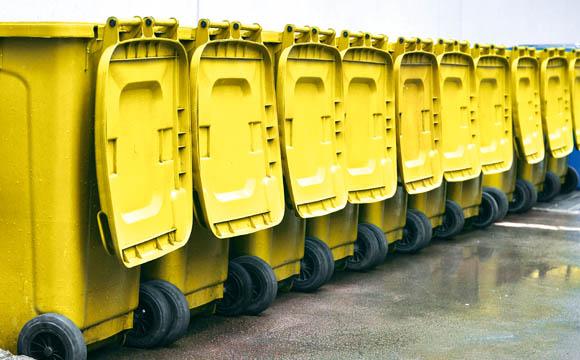 Verpackungs-Rohstoff aus dem Gelben Sack