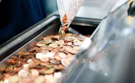 Mehrheit für Abschaffung von Kupfergeld