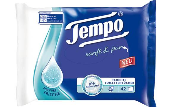 Tempo Feuchte Toilettentücher sanft & pur / SCA Hygiene Products