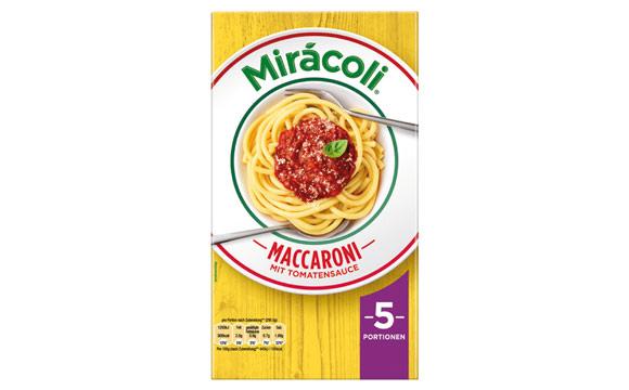 Fertiggerichte ohne TK - Gold: Mirácoli Maccaroni 5 Portionen mit Tomatensauce / Mars