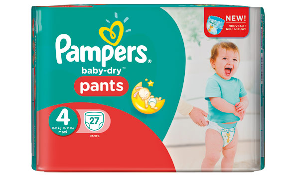 Baby- und Kinderprodukte - Gold: Pampers Baby-Dry Pants / Procter & Gamble Germany
