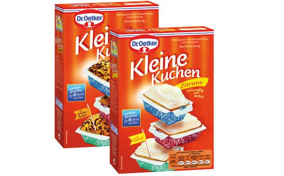 Kuchen und Backmischungen - Silber: Dr. Oetker Kleine Kuchen / Dr. August Oetker Nahrungsmittel