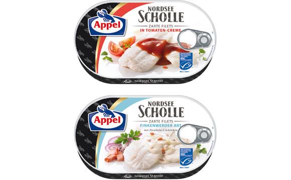Appel Nordsee Scholle Zarte Filets / Appel Feinkost