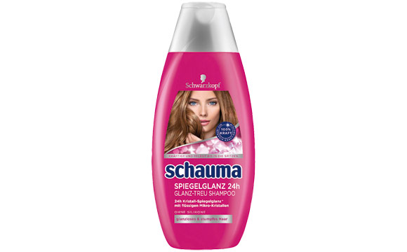 Haarpflege - Bronze: Schauma Spiegelglanz 24 h Glanz-Treu Shampoo / Henkel