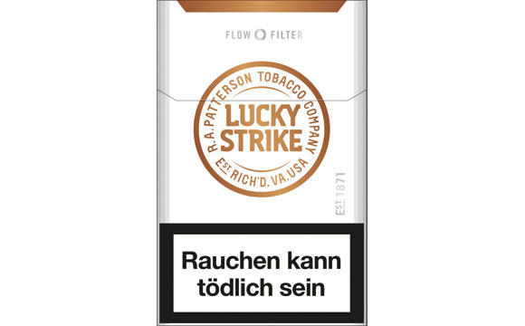 tabakwaren zigaretten silber lucky strike flow filter. Black Bedroom Furniture Sets. Home Design Ideas