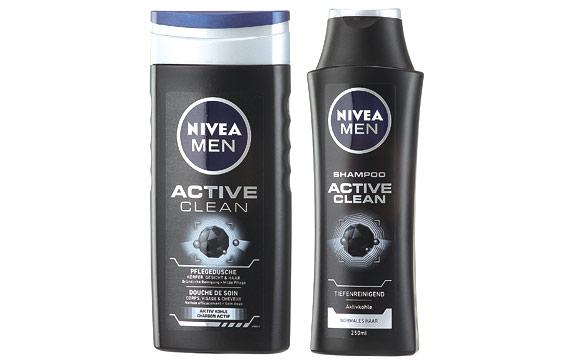 Männerpflege und -kosmetik - Gold: Nivea Men Active Clean / Beiersdorf
