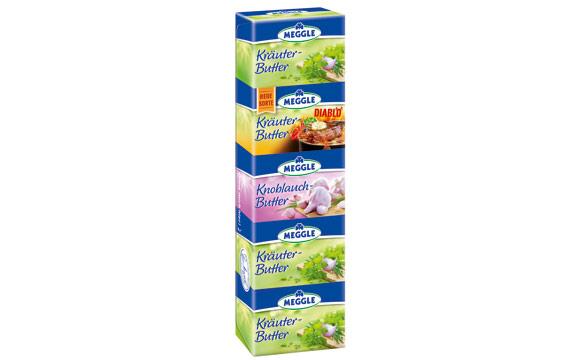 Margarine, Öle, Fette, Butter - Gold: Butter-Boutique-Riegel / Molkerei Meggle Wasserburg