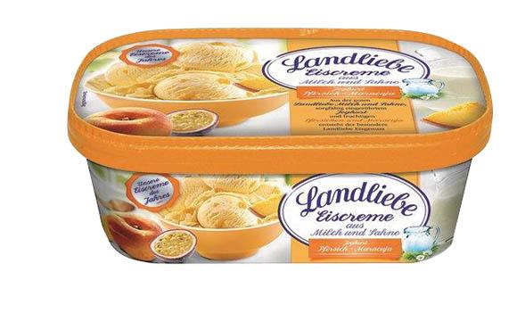 Landliebe Eiscreme Joghurt-Pfirsich-Maracuja / R&R Ice Cream Deutschland
