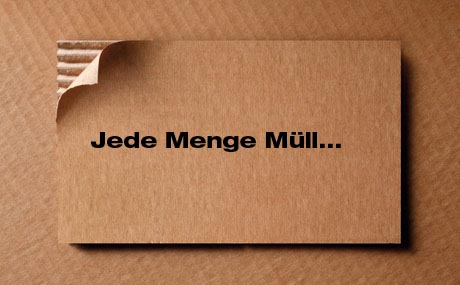 Verpackung: Jede Menge Müll...