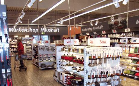 """Markenshop Haushalt"" als Insel"
