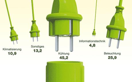 Spannende Frage Energeeffizienz:  Die größten Stromfresser
