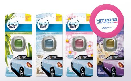 Mit Febreze Car wird die Autofahrt zum Dufterlebnis
