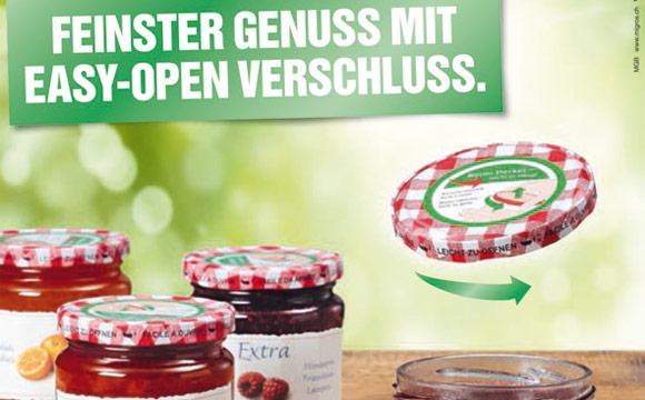 Da freuen sich nicht nur Senioren: Seit Juli hat die Migros Schweiz ihre Extra-Konfitüre mit einem leicht zu öffnenden Schraubverschluss ausgestattet.