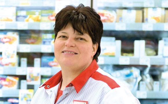 Tanja Mink ist seit zwei Jahren TKK-Verantwortliche im Rewe Markt