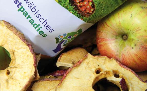 Zum Snacken: Beliebt sind Apfelchips, eine gesunde Alternative zu Süßigkeiten.