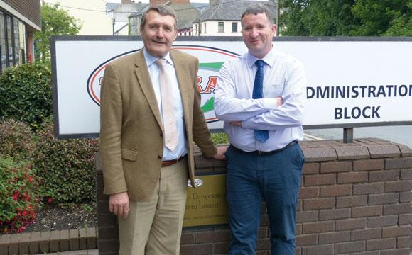 Verwurzelt in Tipperary: Geschäftsführer Ted O'Connor (l.) und John Lewis. Die Genossenschaft exportiert weltweit.