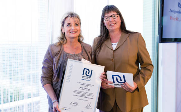 Anett Friedrich (l., Rewe Süd) und Heidrun Mittler (LP)