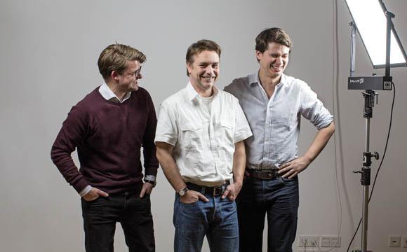 Die Vimcar-Gründer (v. l.): Christian Siewek, Andreas Schneider und Lukas Weber.