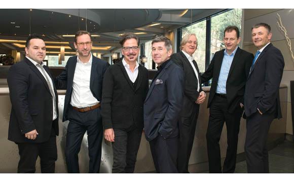 Kommunikatoren: Stefan Zizek (v. l.), Tilo Lehmann, Reiner Mihr, Horst Körte, Wolfgang Dicke, Michael Griess und Andreas Wilkening.