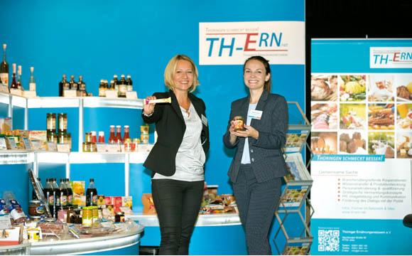 Doreen Ballauf (l.) und Elisabeth Eberlein, Geschäftsstelle Thüringer Ernährungsnetzwerk e.V.