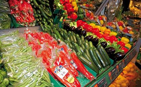 Farbenfroh: Fruchtgemüse.