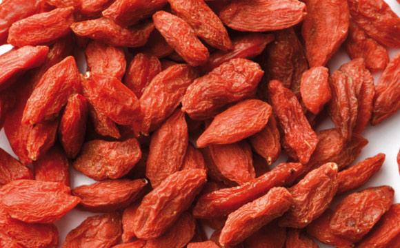 """Goji-Beeren: Die Goji-Beere stammt meist aus China und gilt als Wundermittel gegen das Altern. Es handelt sich um die Frucht des """"gemeinen Bocksdorns"""", der auch bei uns wächst."""