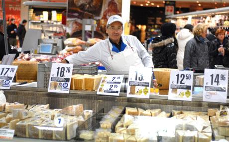 Käse in allen Reifestufen