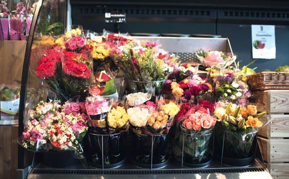 Durch das gekühlte Regal haben sich die Abschriften bei Blumen deutlich reduziert.