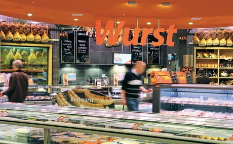 Eigenständig: Fleisch, Wurst und Käse sind als Fachbereiche definiert.