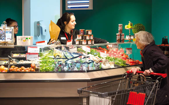 Obst und Gemüse in Bedienung: Besonderes für anspruchsvolle Kunden.