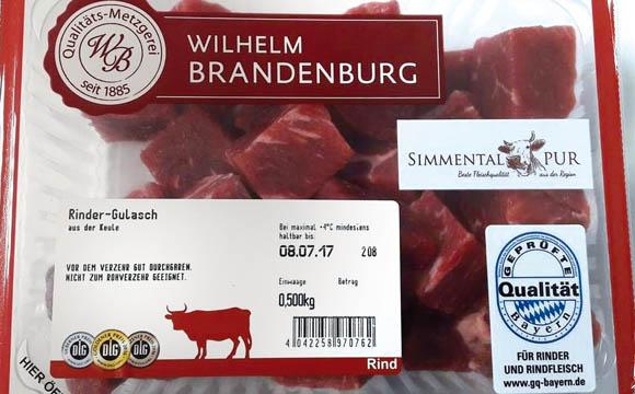 Rindfleisch für Bayern