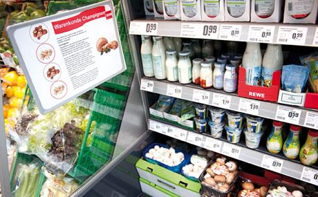 Aufgepasst: Kunden erhalten an mehreren Stellen Extra-Informationen über einzelne Waren.