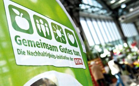 Engagiert: Mit dem Nachhaltigkeitskonzept der Rewe identifiziert sich auch das Bornheimer Team.
