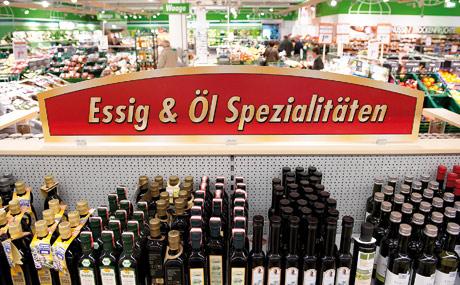 Steckenpferd: 113 Essig-Varianten und 143 regionale wie internationale Speiseöl-Spezialitäten stehen zur Auswahl.