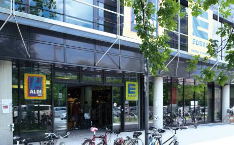 Praktisch: Genauso wichtig wie die Tiefgarage sind Parkplätze für Fahrräder, mit denen nicht nur Studenten zum Einkaufen fahren.