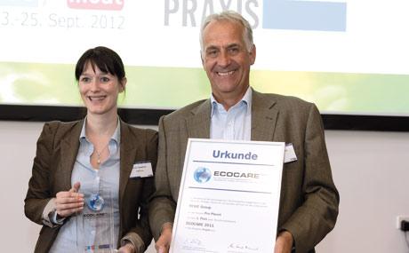 Nicola Tanaskovic und Dr. Ludger Breloh, beide bei der Rewe zuständig für das Thema Nachhaltigkeit.