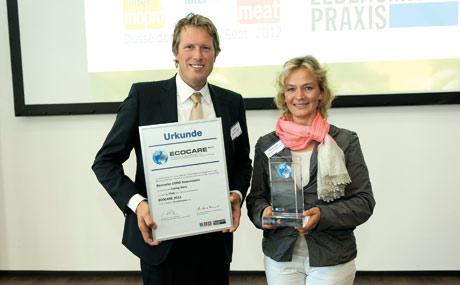 Beemster-Vertriebsleiter Jan Roelofs und Christa Langen, Unternehmenskommunikation.