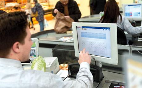 Die Kassenabwicklung erfolgt mit modernen Touchscreens.