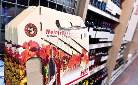 Die Weinträger erleichtern den Transport mehrerer Flaschen.