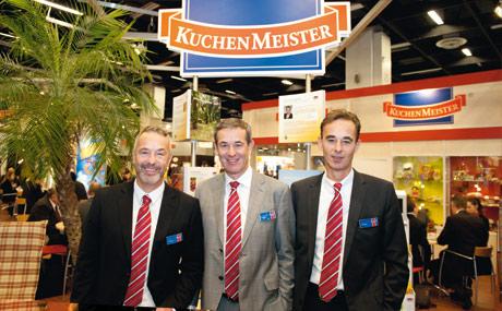 Brüderlicher Multi-Pack: v.l. Uwe, Hans-Günter und Thomas Trockels, Kuchenmeister.