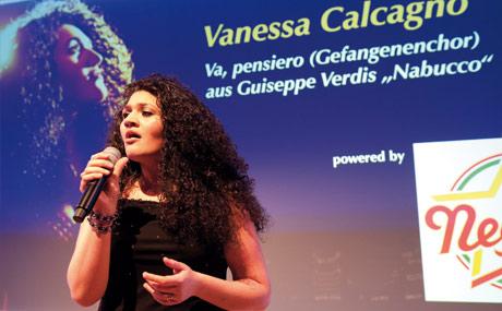 Gänsehaut-Garantin: Vanessa Calcagno sang sich in die Herzen.