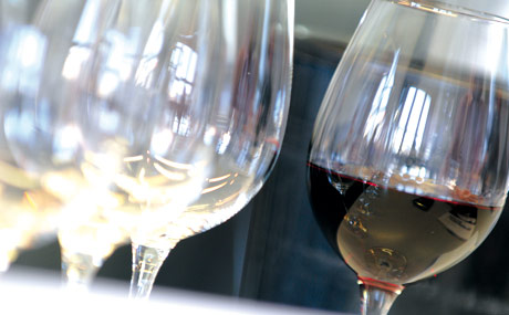 Den richtigen Rahmen fu?r Verkostungen bietet die Deutsche Wein und Sommelierschule in Koblenz. (Bildquelle: Belz)