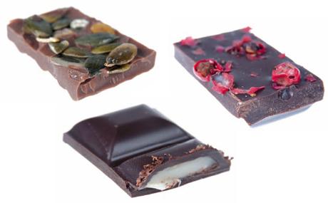 Schokoladensorten mit ausgefallenen Zutaten.