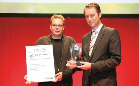 Tüftler: Michael Wipperfürth und Roland Schüren (Ihr Bäcker Schüren) überzeugten mit ihrem Energiekonzept auf Basis thermischer Altbrotnutzung.