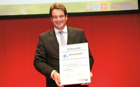Tolle Leistung: Dr. Michael Raß (Teutoburger Ölmühle) beeindruckte die Juroren durch sein umfangreiches Bio- und Nachhaltigkeits-Engagement.