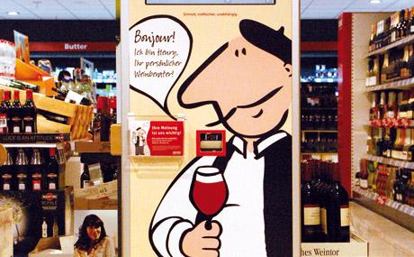 """Mit französischem Charme (Akzent, Aussehen) lockt """"Henry"""" die Kunden an. (Bildquelle: Frag´ Henry! GmbH)"""