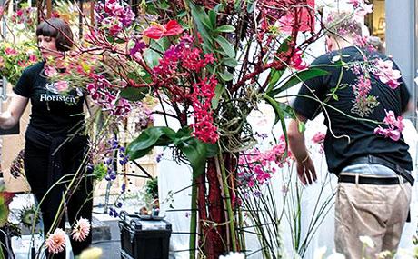 Floristen in den Potsdamer Platz Arkaden (Bildquelle: Silvia Schulz)
