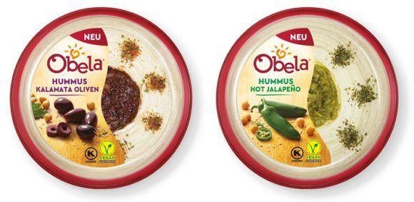 Obela: Obela Hummus Kalamata Oliven | Obela Hummus Hot Jalapeño